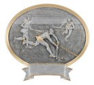 Field Hockey Oval Resin Plaque