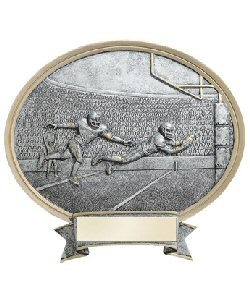 Oval Resin Plate Football Plaque