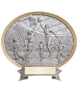 Basketball Oval Resin Plate Plaques Male or Female