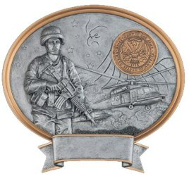 Female Army Oval Resin Plaque
