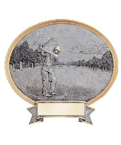 Golf Oval Resin Plaque Male or Female