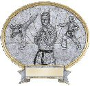 Martial Arts Oval Plaque Male or Female