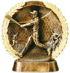 Male Baseball Bronze Resin Plate