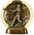 Female Softball Bronze Resin Plate