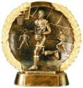 Male Basketball Bronze Plate