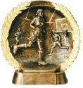 Female Basketball Bronze Plate