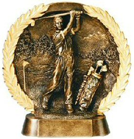 Male Golf Bronze Resin Plate