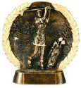 Female Golf Bronze Resin Plate