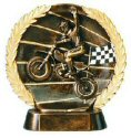 Motocross Bronze Resin Plate