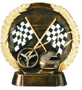 Auto Racing Bronze Resin Plate