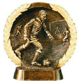Male Soccer Bronze Resin Plate