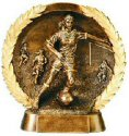 Female Soccer Bronze Resin Plate