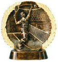Female Tennis Bronze Resin Plate