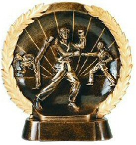 Female Karate Bronze Resin Plate