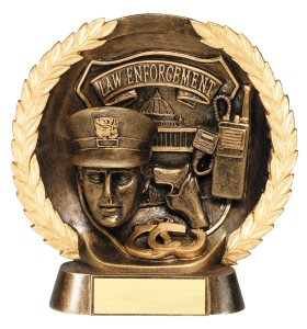 Law Enforcement Bronze Plate