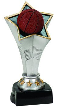 Rising Star Basketball Award Trophy