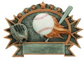 Baseball 3-D Shield Plaque