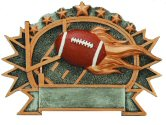 3-D Shield Resin Plaque - Football