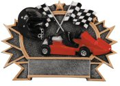 Go Kart 3-D Shield Plaque