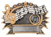 Music 3-D Shield Plaque