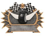 Auto Racing 3-D Shield Plaque