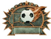 Soccer 3-D Shield Plaque