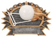 Volleyball 3-D Shield Plaque