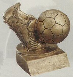 Gold Soccer Shoe and Ball Award