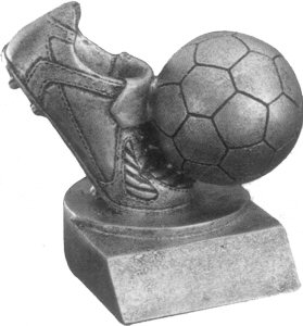 Silver Soccer Shoe and Ball Award