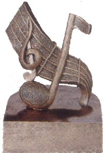 Silver Music Note and Treble Clef Award