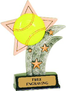 Softball Resin Star Trophy