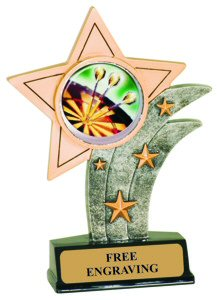 Darts Theme Resin Star Trophy