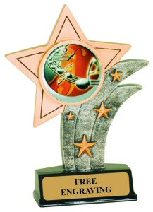 Music Theme Resin Star Trophy