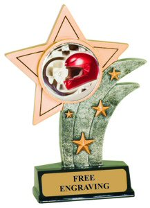 Auto Racing Theme Resin Star Trophy