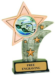 Swimming Resin Star Trophy