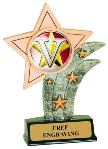 Victory Theme Resin Star