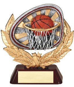 Basketball Full Colored Scene Trophy