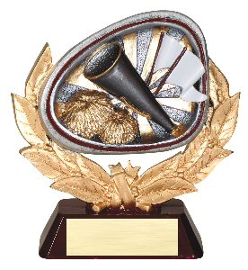 Cheerleading Full Colored Scene Trophy