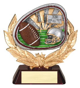 Football Full Colored Scene Trophy