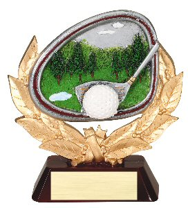 Golf Full Colored Scene Trophy
