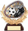 Soccer Full Colored Scene Trophy