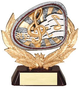Music Full Colored Scene Trophy