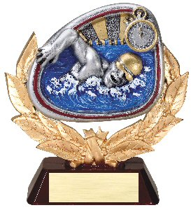 Swim Full Colored Scene Trophy Male or Female