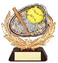 Softball Full Colored Scene Trophy