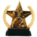 Star and Wreath Bronze Finish Male Soccer Award