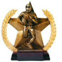 Star and Wreath Bronze Finish Football Award