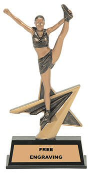 Star Power Cheerleader Resin Trophy
