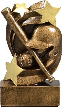 Star Swirl Basketball Resin Trophy