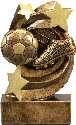 Star Swirl Soccer Resin Trophy