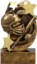 Star Swirl Softball Resin Trophy